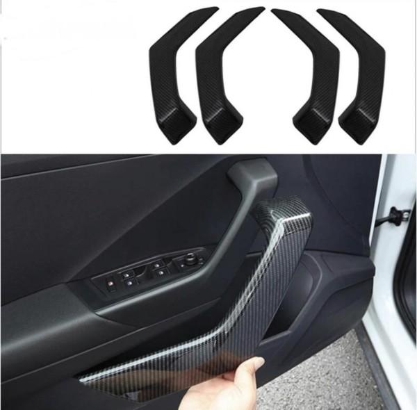 Handgriffe Blende Abdekung Rahmen Carbon Optik Passend Für VW T-Roc TDI TSI