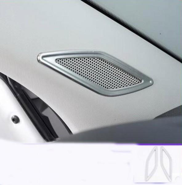 Edelstahl Lautsprecher Rahmen Blende Abdeckung Passend Für VW T-Cross TDI TSI