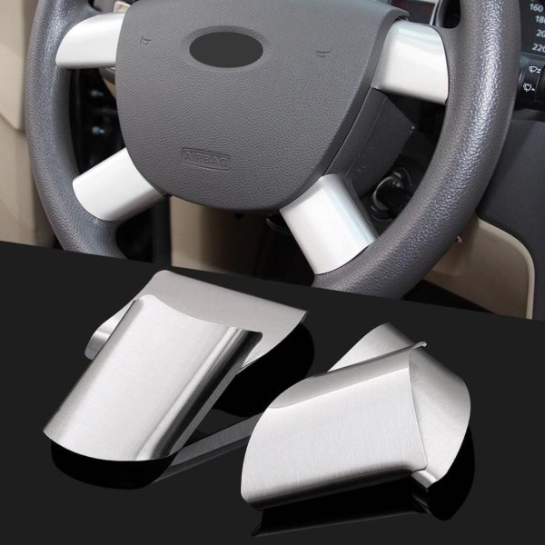 Lenkrad Speichen Abdeckung Rahmen Edelstahl Passend Für Ford Focus 2