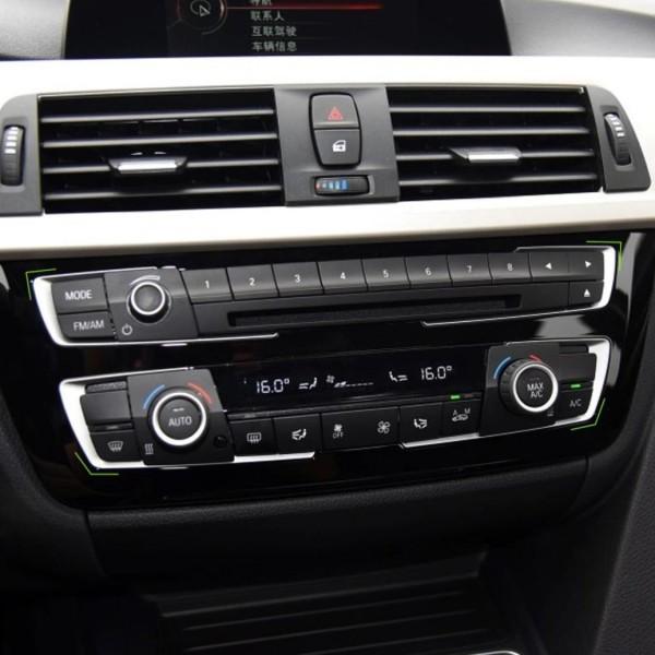 Radio Klima Rahmen Blende ABS Matt Chrom Optik Passend für BMW 3er F30 F31 F34 3GT 4er F36