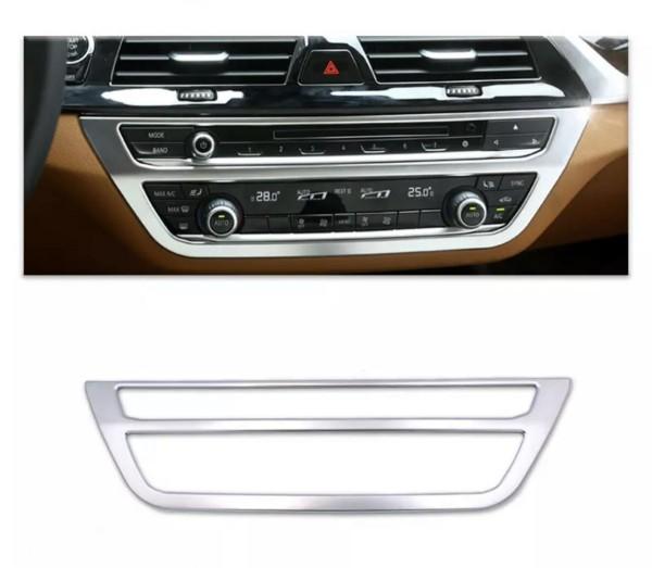 Radio Klima Rahmen Blende Chrome Matt Optik Passend Für BMW X3 G01