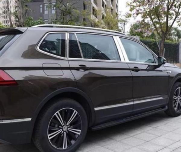 Edelstahl Chrom Säulen Rahmen Leisten Passend Für VW Tiguan 2 AD1 Rline