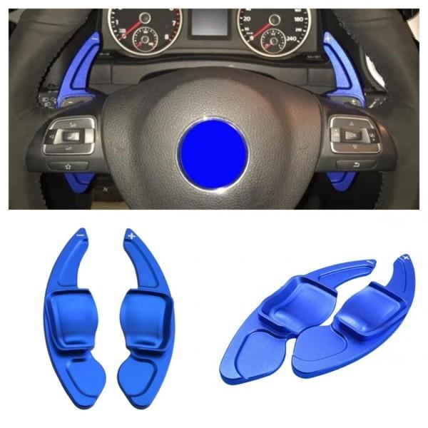 Schaltwippen Verlängerung Shift Paddels Blau Passend Für VW Golf 6 Passat 3C Tiguan 1 Jetta Scirocco Eos