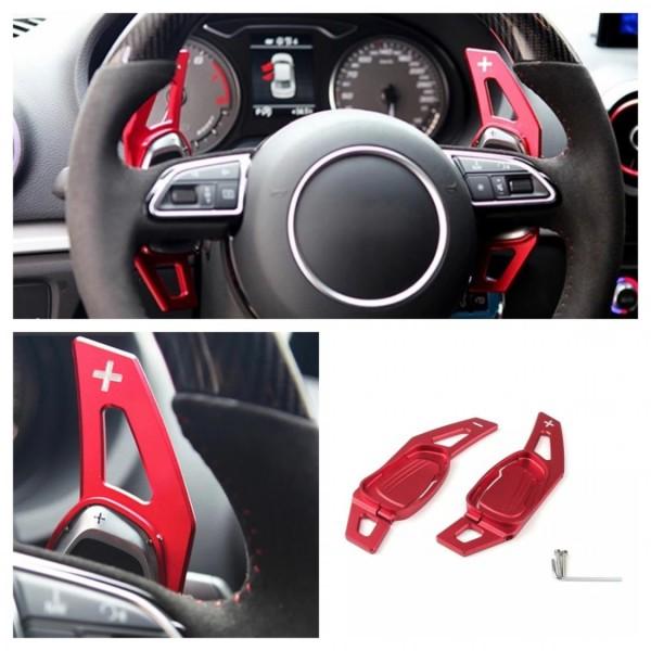 Schaltwippen Verlängerung Shift Paddels Passend Für Audi S3 RS3 S4 RS4 S5 RS5 S6 RS6 TT R8 in Rot