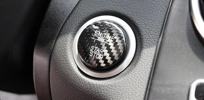 FFZ Parts Start Stop Ring Abdeckung Alu Rot Passend f/ür Corolla RAV4 Pirus Avensis Camry C-HR Yaris