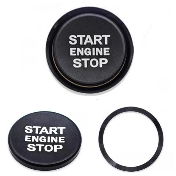 Start Stop Ring Abdeckung Alu Schwarz Passend Für VW Golf 7 Tiguan T-Roc Passat B8 Arteon Caddy