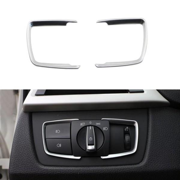 Lichtschalter Rahmen Blende ABS Matt Chrom Optik Passend für BMW 3er F30 F31 F34 3GT 4er F36