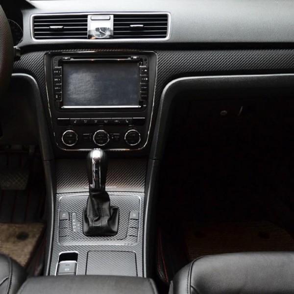 Mittelkonsole Armaturenbrett Lüftung Fensterheber Handgriffen 3D Carbon Folie Passend Für VW Passat B7