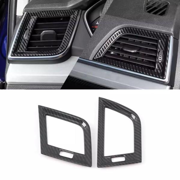 Lüftung Links Rechts Armaturenbrett Veredelung Abdeckung Rahmen Carbon Optik Passend Für Audi Q5 SQ5 FY Ab BJ.2108