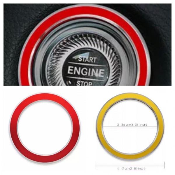 Aluminium Zündung Ringe Rot Rahmen Passend Für Mercedes Benz E W213 S213