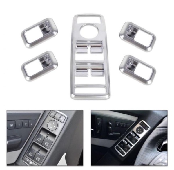 Fensterheber Schalter Rahmen Blende ABS Matt Passend Für Mercedes Benz A B C E Klasse CLS GLK