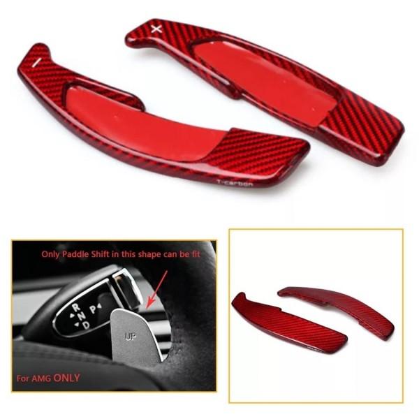 Carbon Optik Schaltwippen Shift Paddels Passend Für Mercedes Benz AMG GLA45 C63 E63 S63 CLS GLE GLC GLE GLS SL CLA45 A45