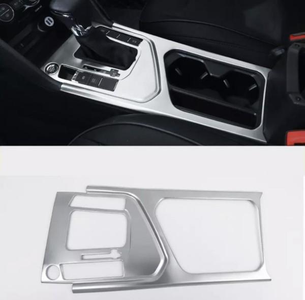 Edelstahl Mittelkonsole Becherhalter Blende Rahmen Abdeckung Passend Für VW Tiguan 2 AD1