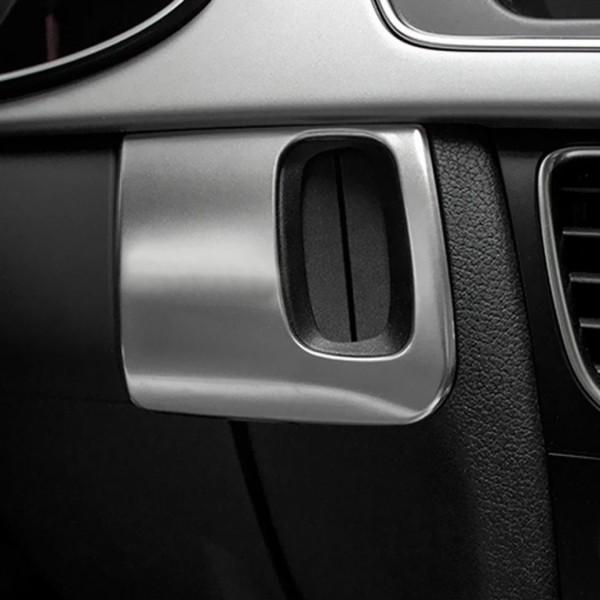 Mittelkonsole Schlüsselrahmen Edelstahl Matt  Look Passend Für Audi A4 A5
