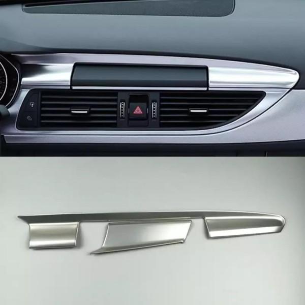 Edelstahl Optik Armaturenbrett Navigation Leiste Passend Für Audi A6 C7 A7