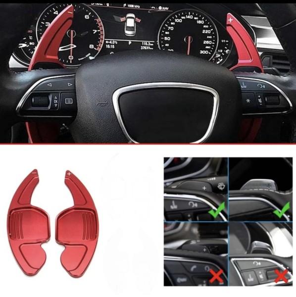 Schaltwippen Verlängerung Paddel Passend Für Audi alle Modelle Seat Leon 5F Cupra FR Rot