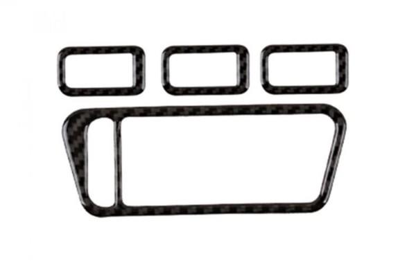 Fensterheber Rahmen Carbon Flex Blende Passend Für VW Golf 7 GTI GTD R Club Sport