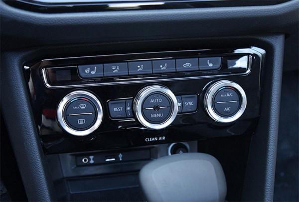 Klima Heizung Aluring Abdeckung Silber Passend Für VW Tiguan 2 AD1 Passat Touran T Roc T Cross