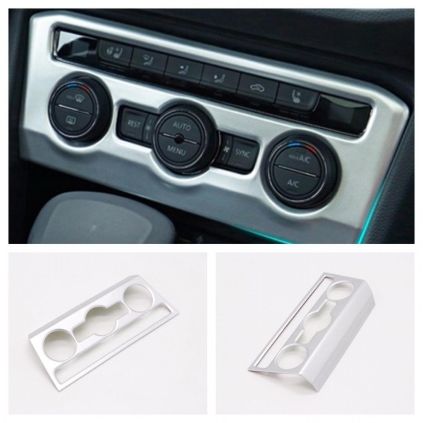 Klima Regler Heizung Rahmen Blende Abdeckung Chrome Matt Passend Für VW T-Roc TDI TSI