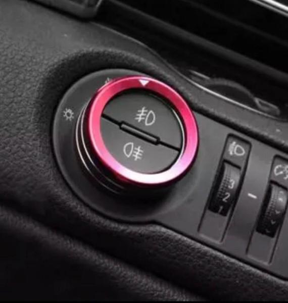 Lichtschalter Alu Ringe Passend Für Opel Mokka Rot