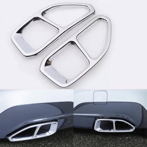 Edelstahl Auspuff Blende Chrome Optik Passend Für BMW 3 G20 G28