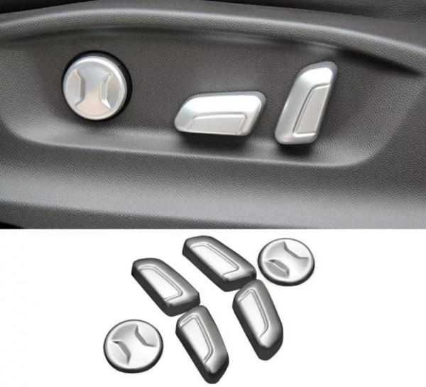 Sitzverstellung Knöpfe Passend Für VW Passat B8 Tiguan 2 AD1 Silber