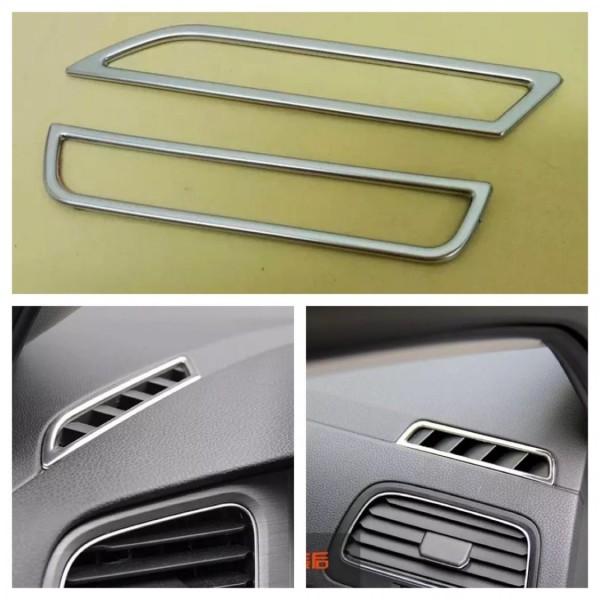 Luftdüsen Lüftung Rahmen Blende Abdeckung Chrom Matt Passend Für VW Golf 7