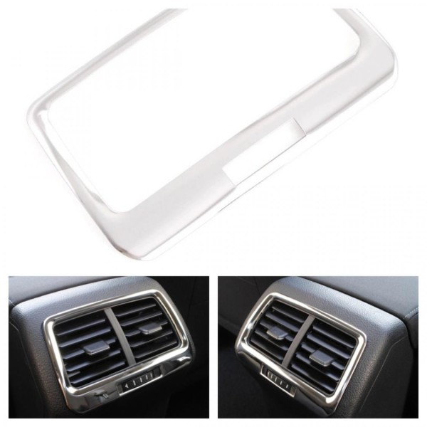 Mittelkonsole Hinten Blende Rahmen in Edelstahl Passend Für VW Golf 7 VII MK7 GTI GTD R
