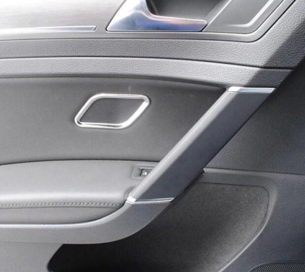 Lautsprecher Blende Abdeckung Hinten Edelstahl Passend Für VW Golf 7 GTI GTD R Club Sport TDI TSI