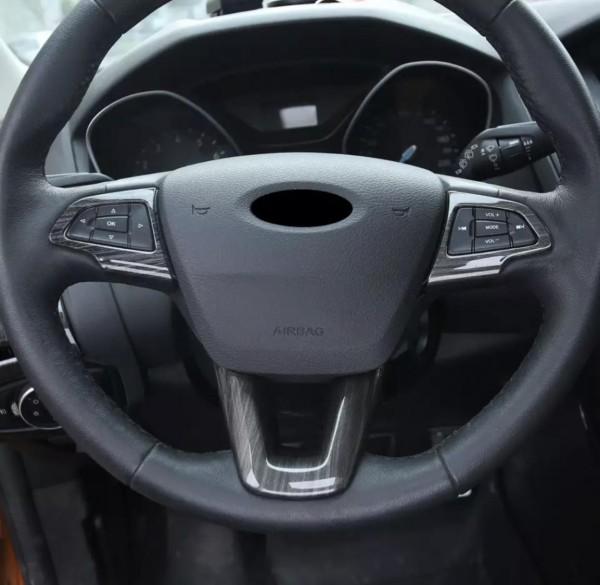 Lenkrad Rahmen Holz Optik Passend für Ford Focus 3 4 C-Max Kuga Escape