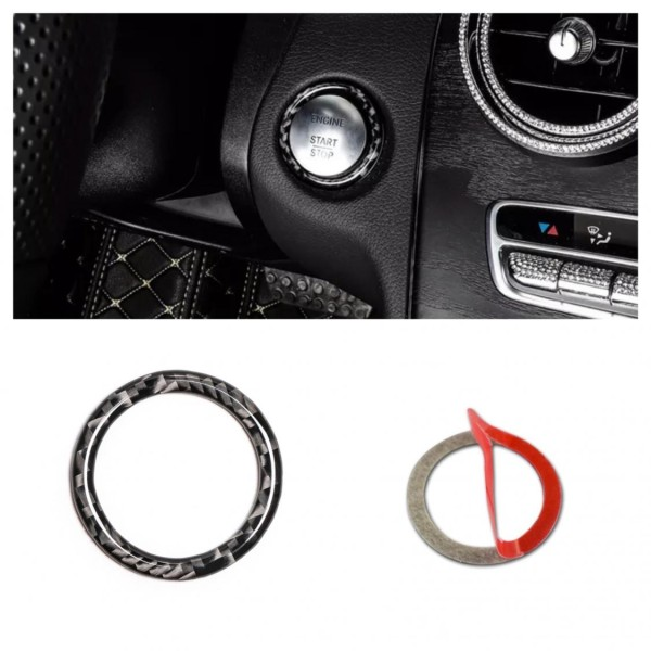 Start Stop Blende Abdeckung Flex Carbon Passend für Mercedes Benz A B C E Class GLA GLC GLE GL
