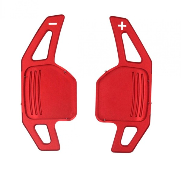 Schaltwippen Verlängerung Paddel Passend Für Audi A1 A3 A4 A5 A6 Q3 Q5 Q7 in Rot