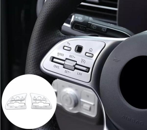 Lenkrad Multifunktionstaste Tasten Blende Rahmen Abdeckung Passend Für Mercedes Benz A B C E GLC GLB GLE GLS