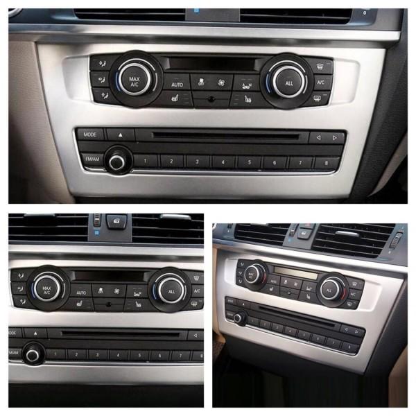 Radio Klima Rahmen Blende Chrom Matt Optik Passend Für BMW X3 F25 F26