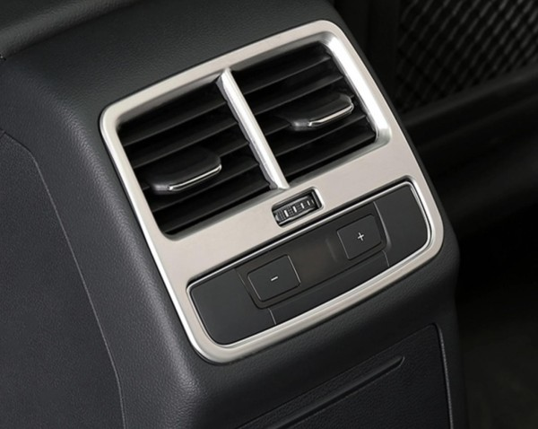 Mittelkonsole Hinden Lüftungsabdeckung Blende Passend Für Audi A4 S4 RS4 B9 in Edelstahl Silber