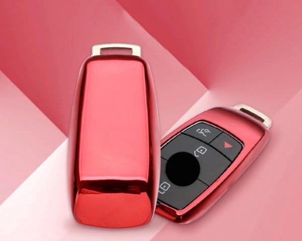 Schlüsselhülle Cover Gummi Rot Passend Für Mercedes Benz E Klasse W213 E63 AMG