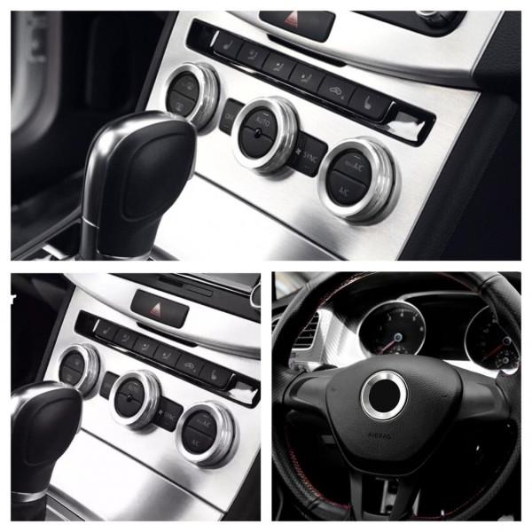 Klima Heizungsregler Schalter Alu Ringe Passend Für VW Golf 7 Tiguan 2 Passat B8