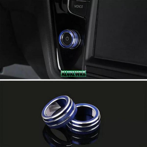 Navi Radio Schalter Alu Ringe Passend Für VW Golf 7 Tiguan 2 Passat B8 T-Roc Aerton Touran Caddy Polo