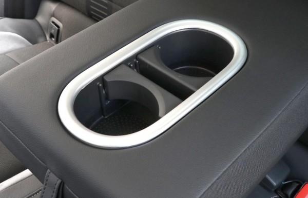 Hintere Becherhalter Rahmen Blende Abdeckung Chrome Matt Passend Für VW T-Roc TDI TSI