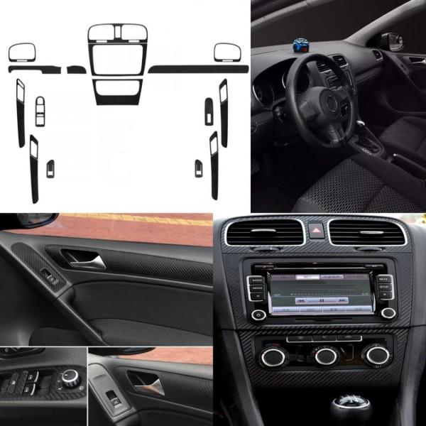 Mittelkonsole Fensterheber Handgriffe in 3D Carbon Folie Passend Für VW Golf 6