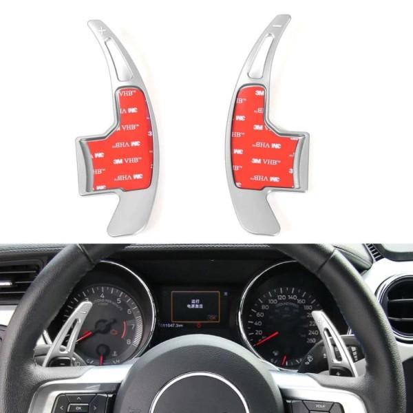 Schaltwippen Verlängerung in Silber Paddel Passend Für Ford Mustang Ab Bj. 2015