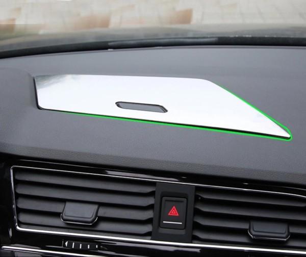 Edelstahl Rahmen Ablagefach Staufach Armaturenbrett Passend Für VW Tiguan 2 AD1 TSI TDI