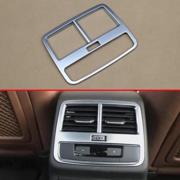Luftdüsen Lüftung Rahmen Blende Mittelkonsole Hinten Passend Für Audi A4 B9 in Silber