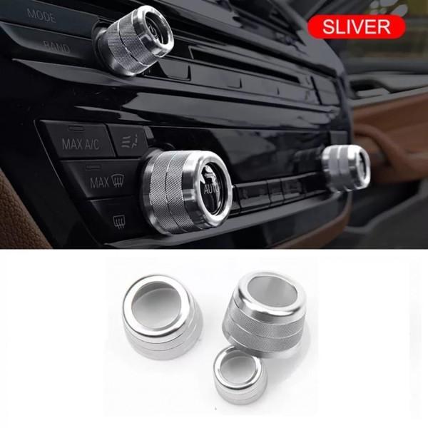 Radio Klima Heizungsregler Schalter Aluringe Passend Für BMW 5 Serie G30 G38 X3 G01 X4 G02 6 Serie GT