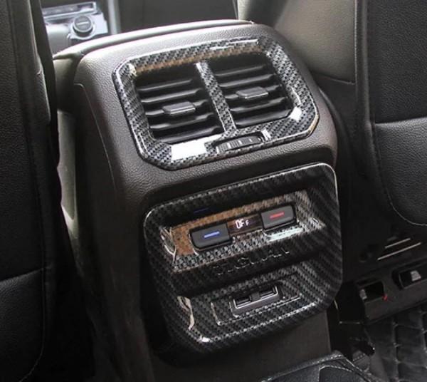 Mittelkonsole Hinten Lüftungsabdeckung in Carbon Optik Passend Für VW Tiguan 2 AD1