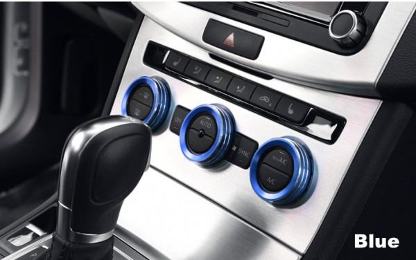 Klima Heizungsregler Schalter Alu Ringe Passend Für VW Golf 7 GTI GTE GTD TDI TSI R