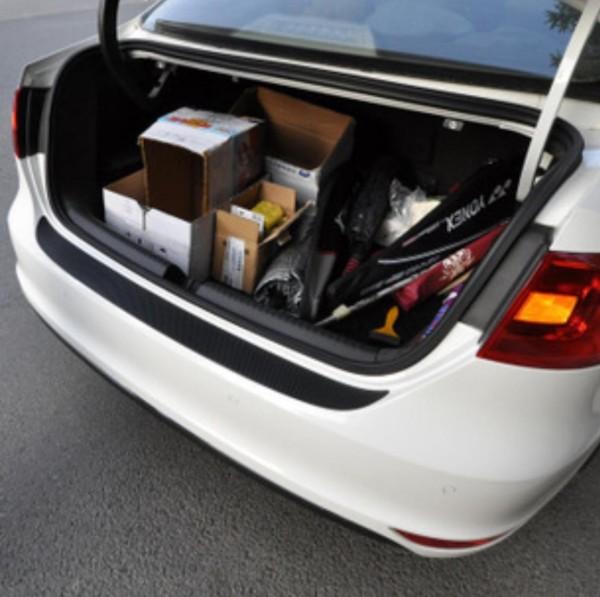 3D Carbon Folie Ladekantenschutz Passend Für Golf 6 GTI GTD R TDI TSI in Schwarz