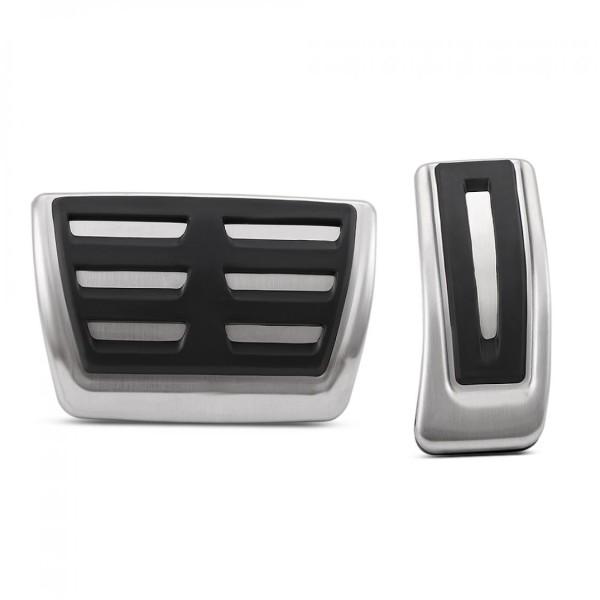 Pedale Pedalkappen aus Edelstahl Passend Für Audi A4 B8 S4 A5 S5 Q5 SQ5 Automatikgetriebe