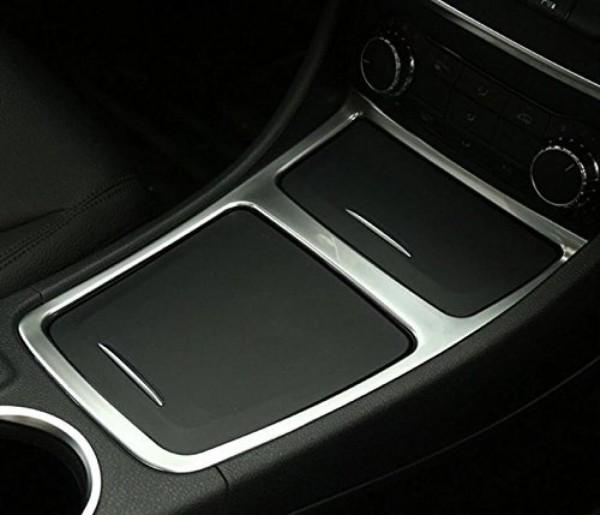 Mittelkonsole Armaturenbrett Veredelung Passend Für Mercedes Benz A Klasse CLA GLA Edelstahl Optik