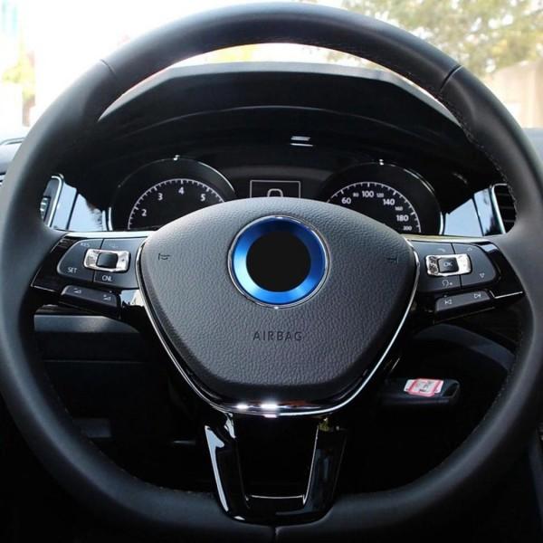 Emblem Logo Rahmen Blende Passend Für VW Polo Golf Passat Tiguan Blau